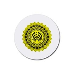 Bassnectar Sunflower Rubber Coaster (round)