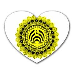 Bassnectar Sunflower Heart Mousepads