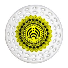 Bassnectar Sunflower Round Filigree Ornament (two Sides)