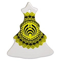 Bassnectar Sunflower Christmas Tree Ornament (two Sides)