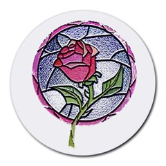 Beauty And The Beast Rose Round Mousepads