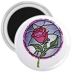Beauty And The Beast Rose 3  Magnets