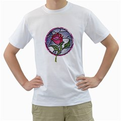 Beauty And The Beast Rose Men s T Shirt (white) (two Sided)