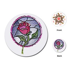 Beauty And The Beast Rose Playing Cards (round)