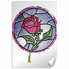 Beauty And The Beast Rose Canvas 24  X 36