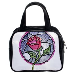 Beauty And The Beast Rose Classic Handbags (2 Sides)