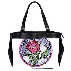 Beauty And The Beast Rose Office Handbags (2 Sides)