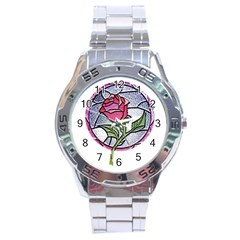 Beauty And The Beast Rose Stainless Steel Analogue Watch