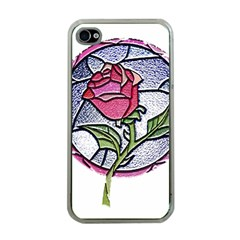 Beauty And The Beast Rose Apple Iphone 4 Case (clear)