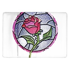 Beauty And The Beast Rose Samsung Galaxy Tab 10 1  P7500 Flip Case