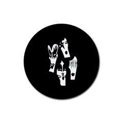 Kiss Band Logo Rubber Round Coaster (4 Pack)