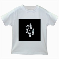 Kiss Band Logo Kids White T Shirts