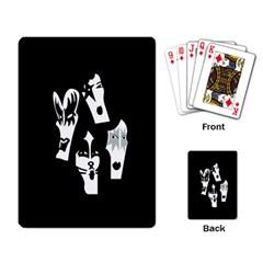 Kiss Band Logo Playing Card