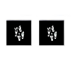 Kiss Band Logo Cufflinks (square)