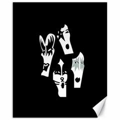 Kiss Band Logo Canvas 16  X 20
