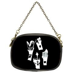 Kiss Band Logo Chain Purses (two Sides)
