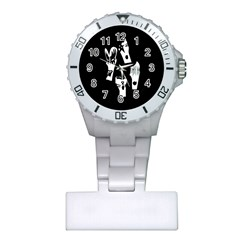 Kiss Band Logo Plastic Nurses Watch