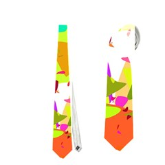 Colorful Shapes On A White Background                             Necktie