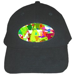 Colorful Shapes On A White Background                             Black Cap