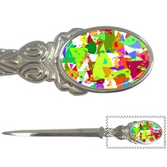 Colorful Shapes On A White Background                             Letter Opener