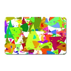 Colorful Shapes On A White Background                             Magnet (rectangular)