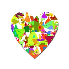 Colorful Shapes On A White Background                             Magnet (heart)