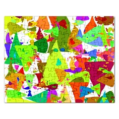 Colorful Shapes On A White Background                             Jigsaw Puzzle (rectangular)