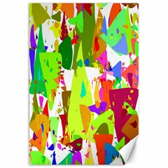 Colorful Shapes On A White Background                             Canvas 20  X 30