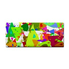 Colorful Shapes On A White Background                             Hand Towel