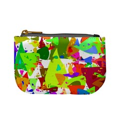 Colorful Shapes On A White Background                       Mini Coin Purse