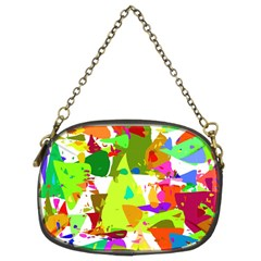 Colorful Shapes On A White Background                        Chain Purse (two Sides)