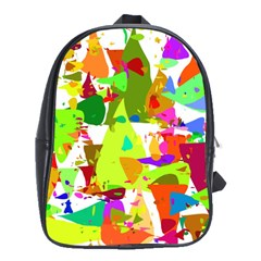 Colorful Shapes On A White Background                             School Bag (large)