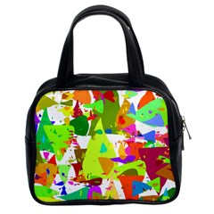Colorful Shapes On A White Background                             Classic Handbag (two Sides)