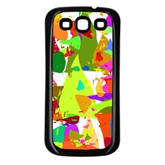 Colorful Shapes On A White Background                       Samsung Galaxy S3 Back Case (white)
