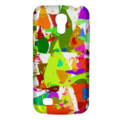 Colorful Shapes On A White Background                       Samsung Galaxy S4 I9500/i9505 Woven Pattern Leather Folio Case