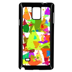 Colorful Shapes On A White Background                       Samsung Galaxy Note 4 Case (white)