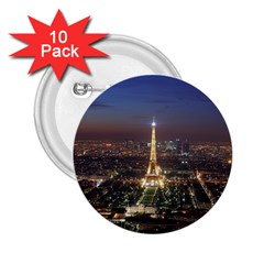 Paris At Night 2 25  Buttons (10 Pack)