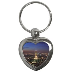 Paris At Night Key Chains (heart)
