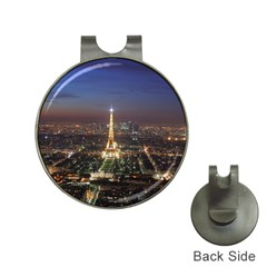 Paris At Night Hat Clips With Golf Markers