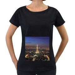 Paris At Night Women s Loose Fit T Shirt (black)