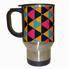 Triangles Pattern                           Travel Mug (white)
