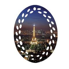 Paris At Night Ornament (oval Filigree)