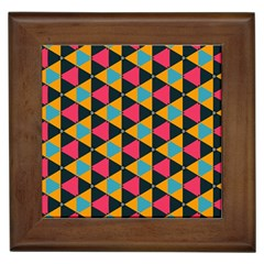 Triangles Pattern                           Framed Tile