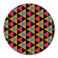 Triangles Pattern                           Round Mousepad