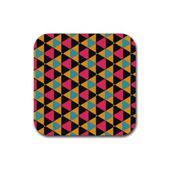 Triangles Pattern                           Rubber Square Coaster (4 Pack