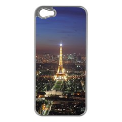 Paris At Night Apple Iphone 5 Case (silver)