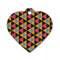 Triangles Pattern                           Dog Tag Heart (one Side)