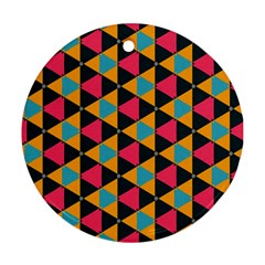 Triangles Pattern                           Ornament (round)