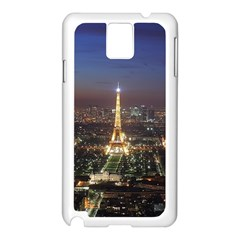 Paris At Night Samsung Galaxy Note 3 N9005 Case (white)