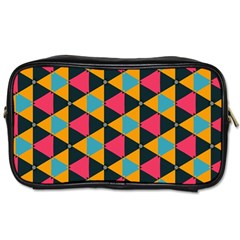 Triangles Pattern                           Toiletries Bag (two Sides)